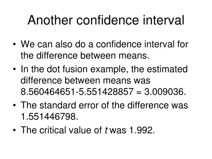 Another confidence interval