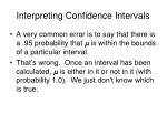 interpreting confidence intervals