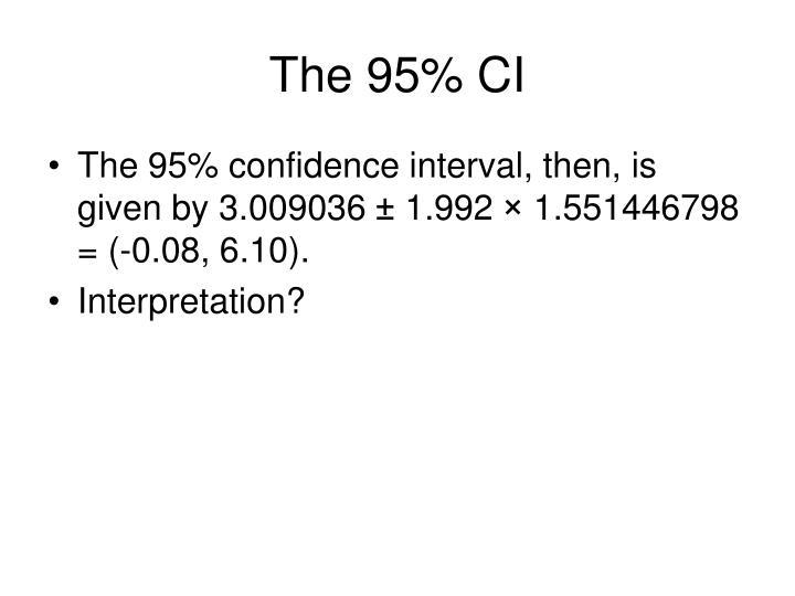 The 95% CI