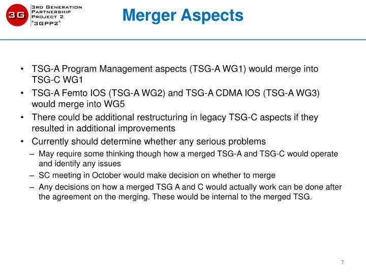 Merger Aspects