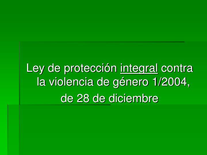 Ley de protección