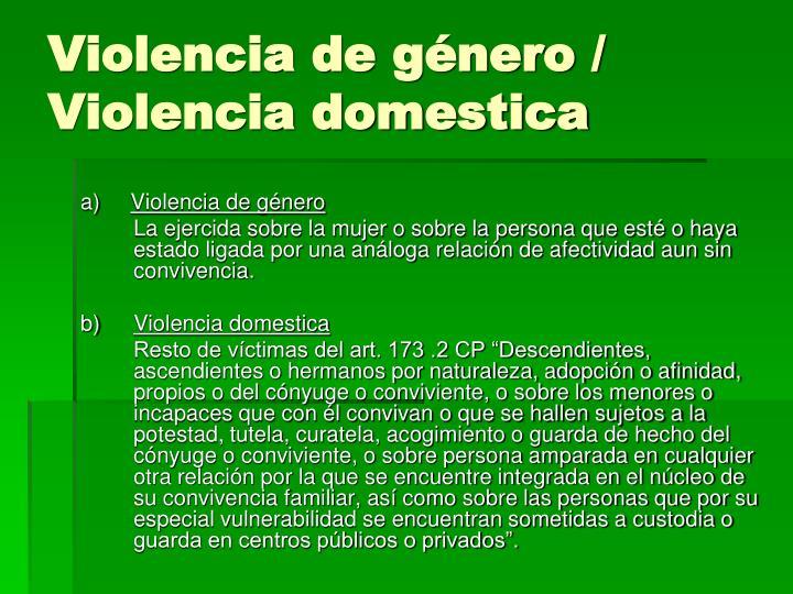 Violencia de género /