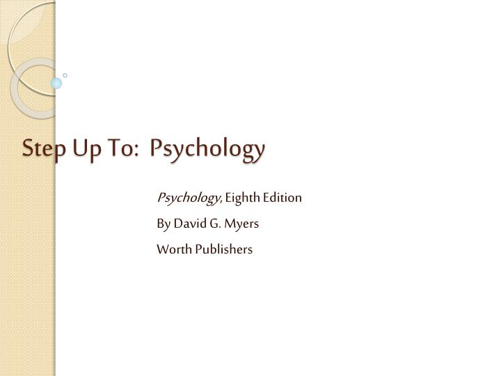 Step up to psychology
