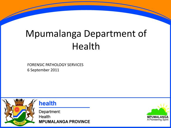 Mpumalanga department of health