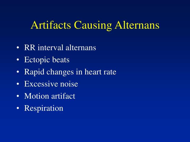 Artifacts Causing Alternans