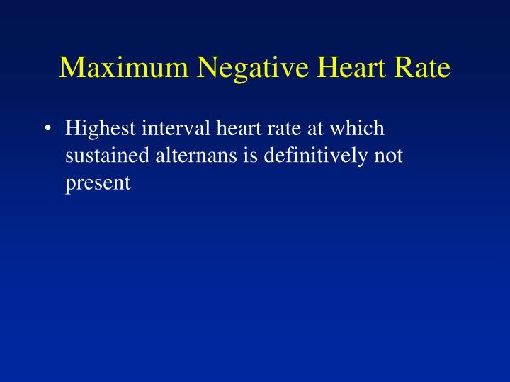 Maximum Negative Heart Rate