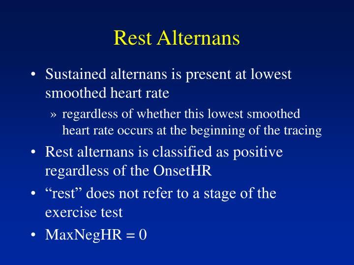 Rest Alternans