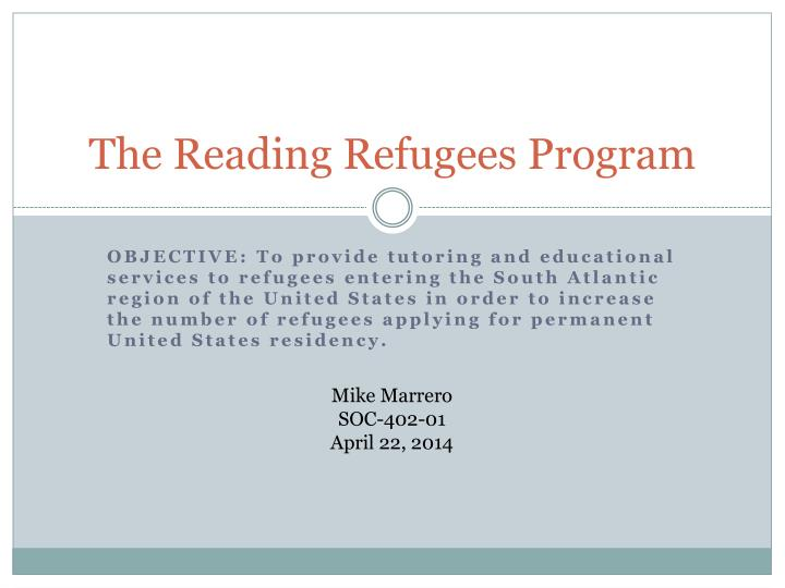 The reading refugees program