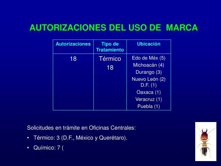 AUTORIZACIONES DEL USO DE  MARCA