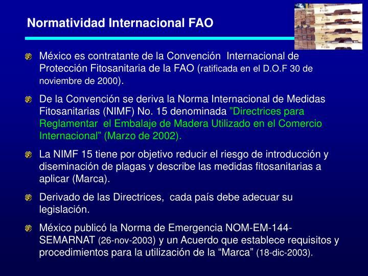 Normatividad Internacional FAO