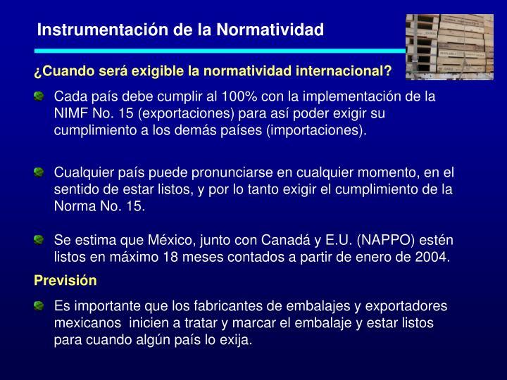 Instrumentación de la Normatividad