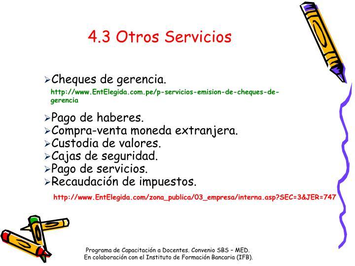 4.3 Otros Servicios