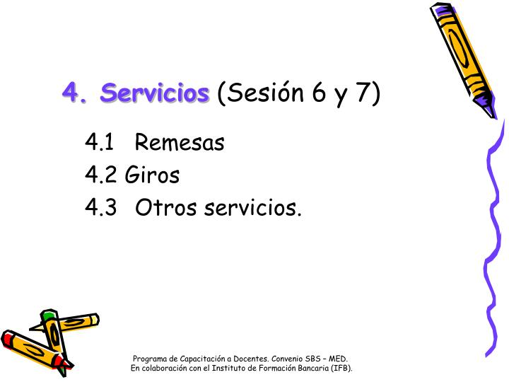 4. Servicios