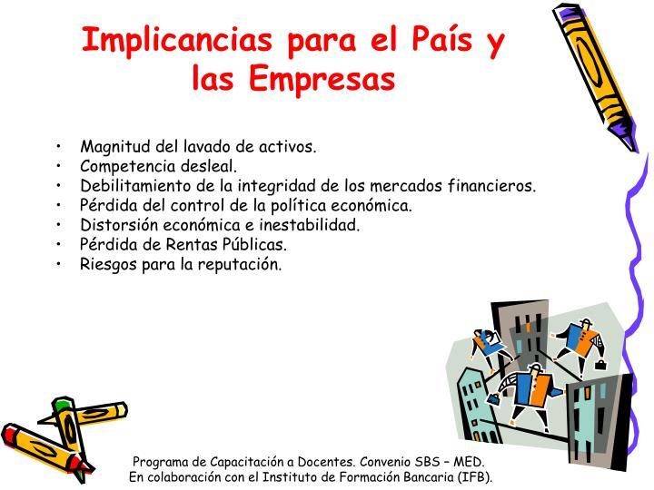 Implicancias para el País y las Empresas