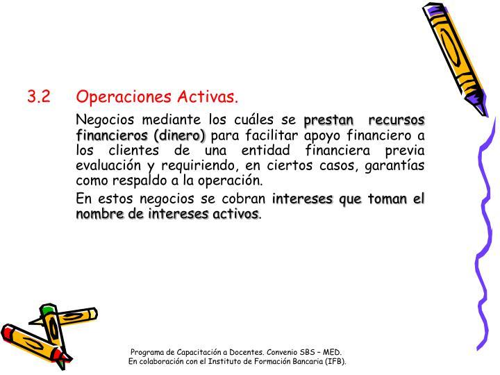 3.2Operaciones Activas.