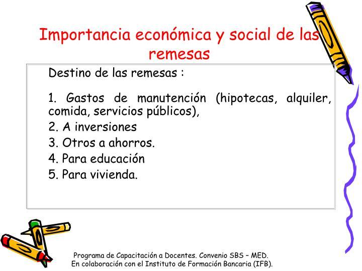 Importancia económica y social de las remesas