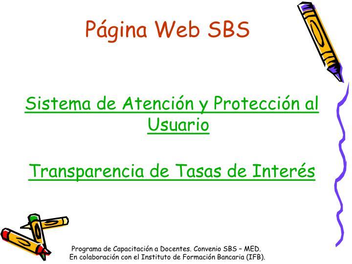 Página Web SBS
