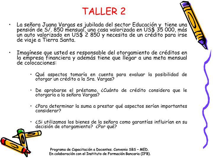 TALLER 2
