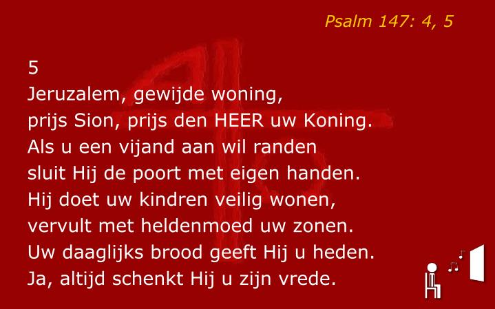 Psalm 147: 4, 5