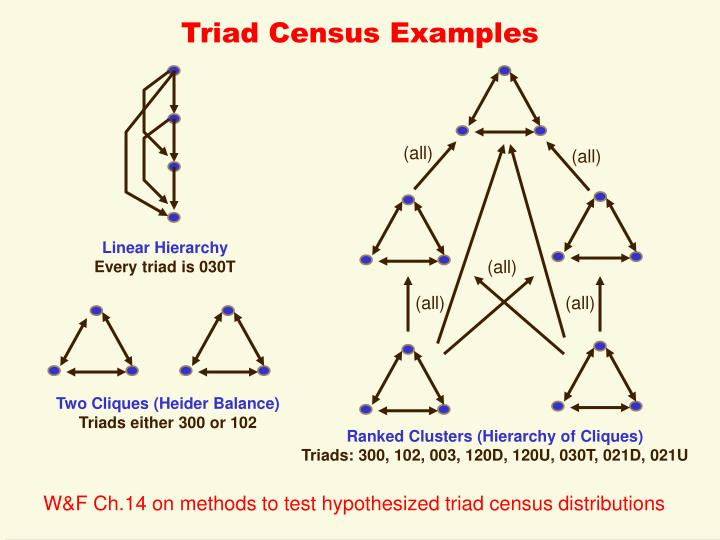 Triad Census Examples