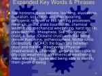 expanded key words phrases