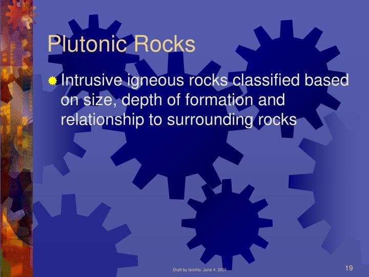 Plutonic Rocks