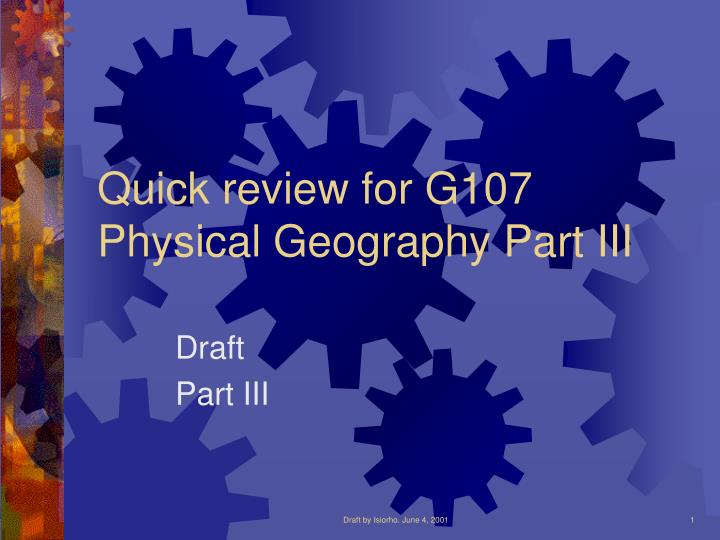 Quick review for G107