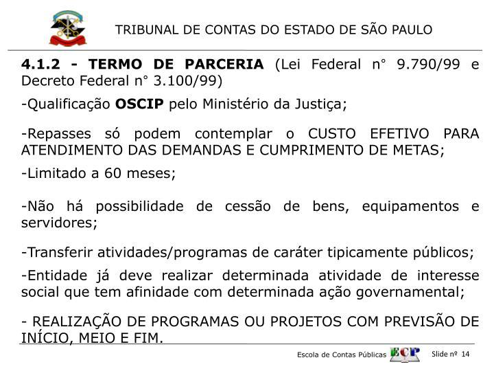 4.1.2 - TERMO DE PARCERIA