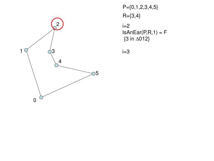 P={0,1,2,3,4,5}