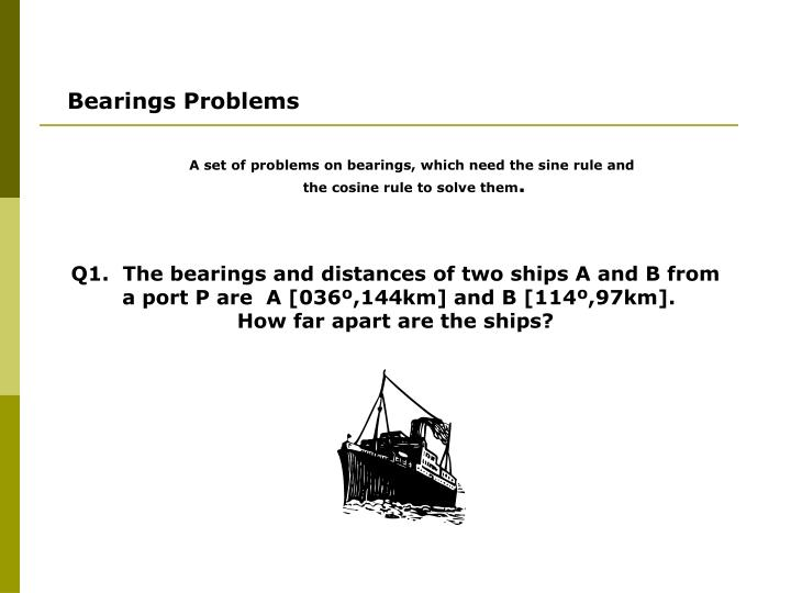 Bearings Problems