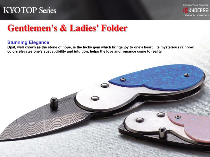 Gentlemen's & Ladies' Folder