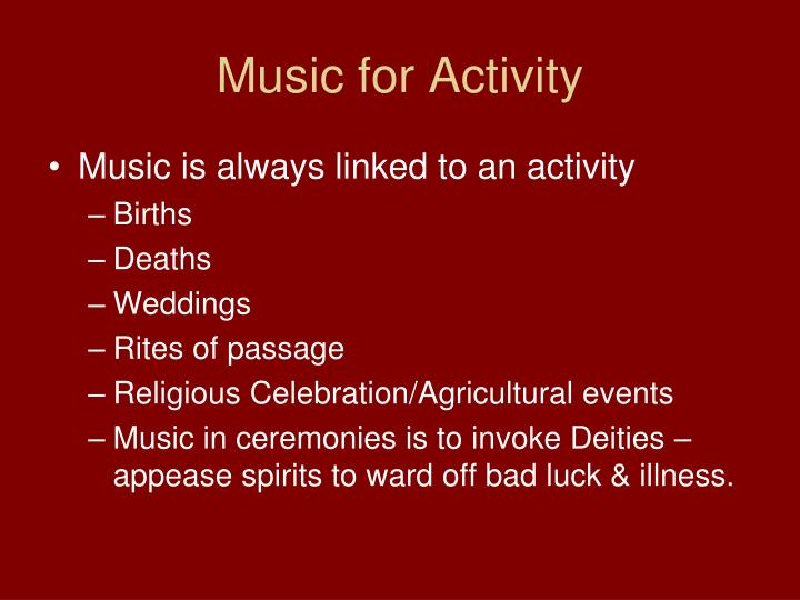 Music for Activity