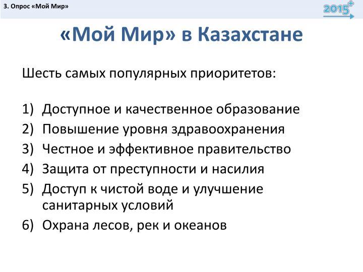 3. Опрос «Мой Мир»