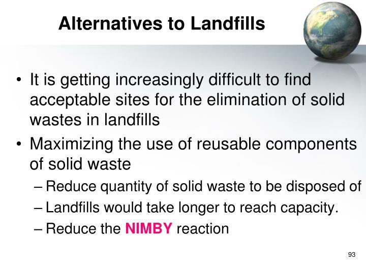 Alternatives to Landfills
