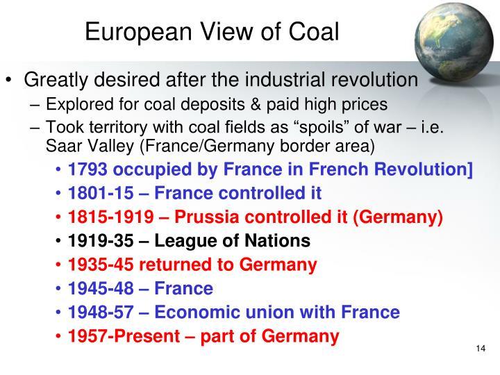 European View of Coal