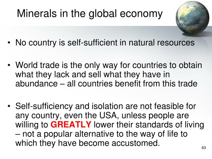 Minerals in the global economy