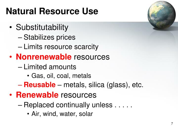 Natural Resource Use
