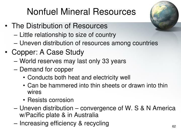 Nonfuel Mineral Resources