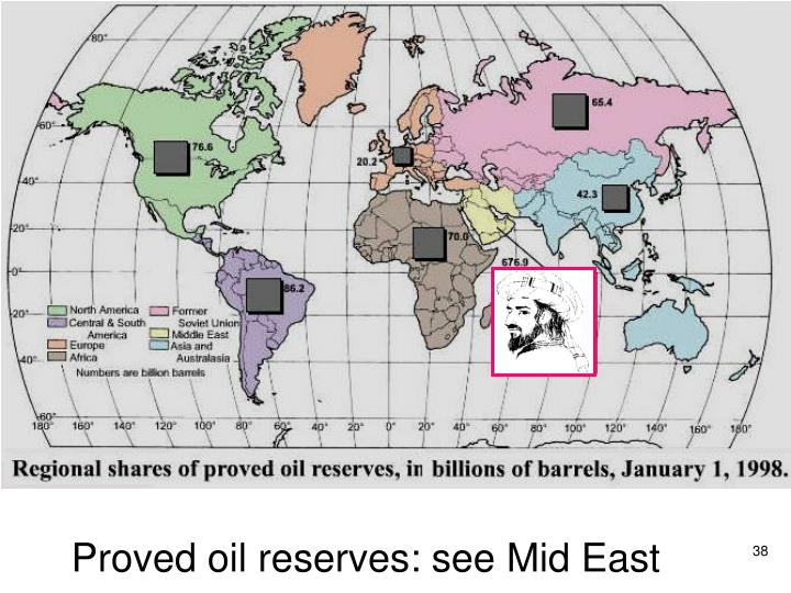 Proved oil reserves: see Mid East