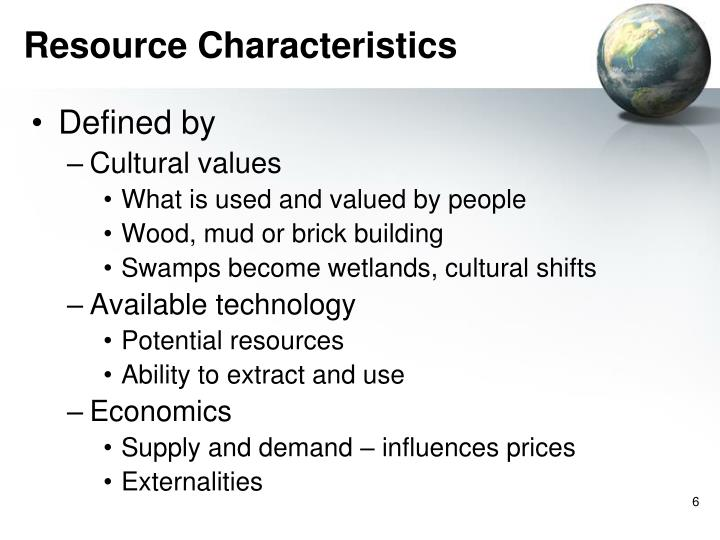 Resource Characteristics
