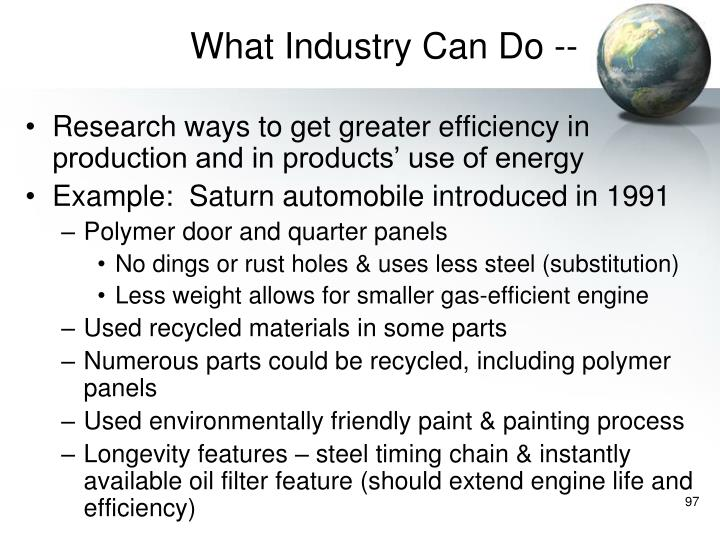 What Industry Can Do --