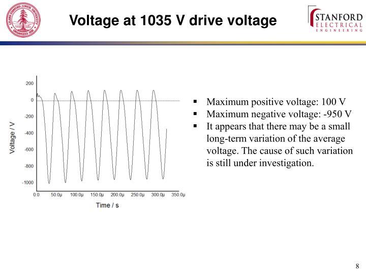 Voltage at 1035 V drive voltage