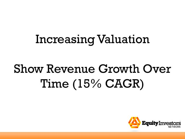 Increasing Valuation