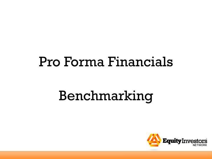 Pro Forma Financials
