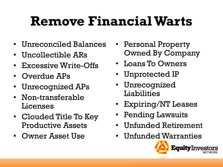 Remove Financial Warts