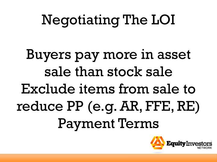 Negotiating The LOI