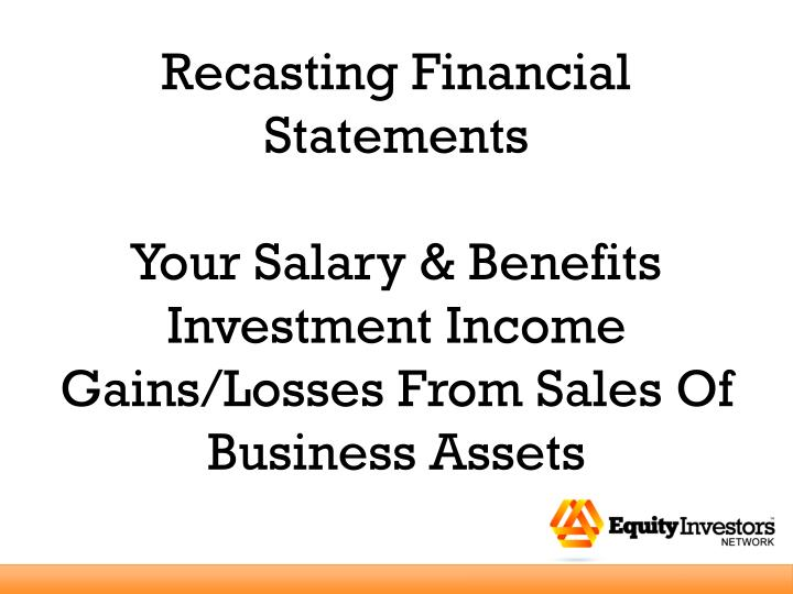 Recasting Financial Statements