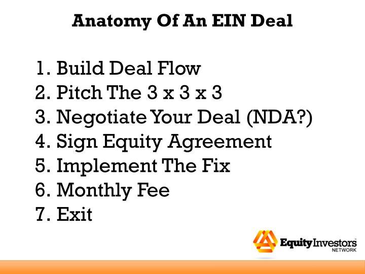 Anatomy Of An EIN Deal