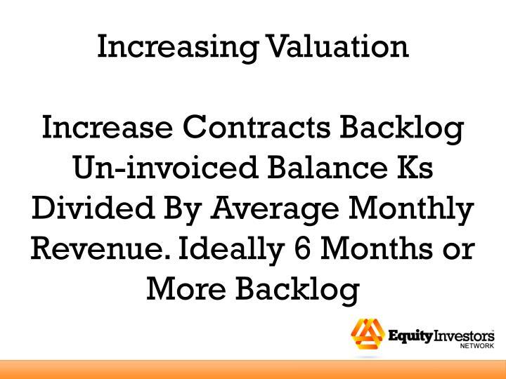 Increasing Valuation