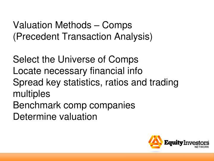 Valuation Methods – Comps